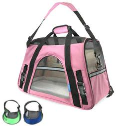 US Pet Carrier Soft Sided Large Cat/Dog Comfort Travel Bag O