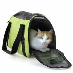 Pet Carrier Soft Sided Large Cat Dog Comfort Crimson Travel