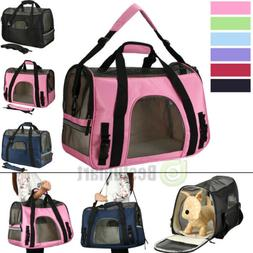 Pet Carrier Soft Sided Large Cat/Dog Comfort Travel Bag Mesh