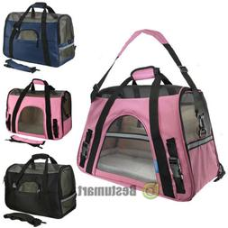 Pet Carrier Soft Sided Large Cat Dog Comfort Rose Wine Black