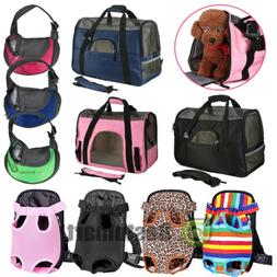 Pet Carrier Soft Sided S/L/XL Cat/Dog Comfort Travel Bag Oxf