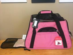 Oxgord Pet Carrier Travel Airplane Compliant Zippered Pink N