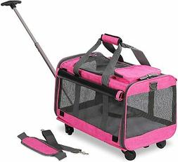 Pet Carrier with Detachable Wheels for Small Dogs & Cats - P