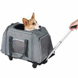 Petsfit Pet Carrier with Removeable Wheels Soft Sided Dog Ca