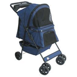 Go Pet Club Blue Pet Stroller dog carrier dark blue up to 45