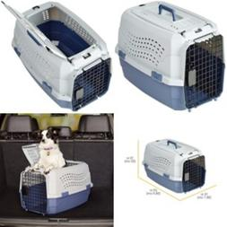 Pet Crate for Medium Dog Kennel Cat Carrier Two Door Top Loa