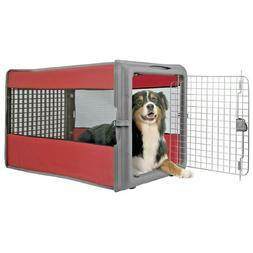 Pet Crate Pop Up Red Portable Soft Side Travel Carrier Cage
