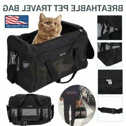Pet Dog Cat Carrier Tote Cage Bag Crates Kennel Portable Tra