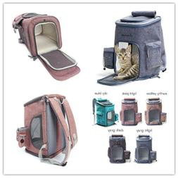 Pet Dog Cat Soft-Sided Backpack Breathable Outdoor Travel Wa