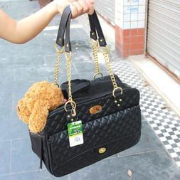 Pet Dog Handbag Faux Leather Purse Carrier Travel Carry Bag