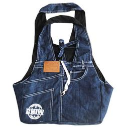 Soft Puppy Pet Dog Sling Tote Carrier Denim Sided Bag Travel