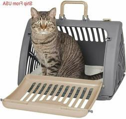 Pet Foldable Travel Cat Carrier Front Door  Plastic Collapsi