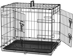 Pet Kennel Cage Crates 2 Doors Folding Playpen Dog Cat Pen W