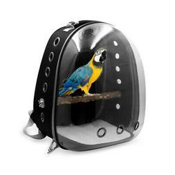 Pet Parrots Bird Carrier Bag Space Capsule Transparent Cover