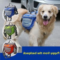 Pet Saddle Backpack Medium Large for Big Dogs Outdoor Hiking