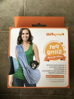 Pet Sling Carrier for Cats Dogs up to 13+ lbs, Grey Reversib