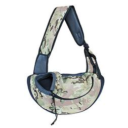 BUYITNOW Pet Sling Zipper Carrier for Small Dogs up to 15bs