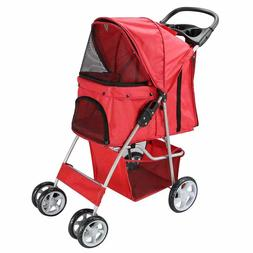 pet stroller for cat dog 4 wheel
