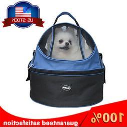 Pet Travel Carrier Soft Sided Large Cat /Dog Comfort  Black