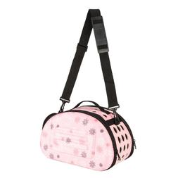 Pink Handbag Carrier Comfort Pet Dog Travel Carry Bag For Sm