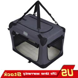 Portable Dog Crate Travel Foldable  Pet Dog Cat Training Cra