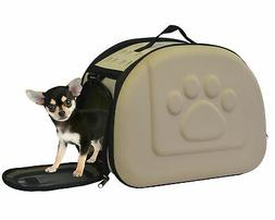 Portable Pet Carrier Airline Approved Hard Shell Sided Comfo