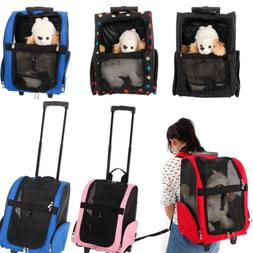 Portable Pet Carrier Dog Cat Rolling Back Pack Trave Airline