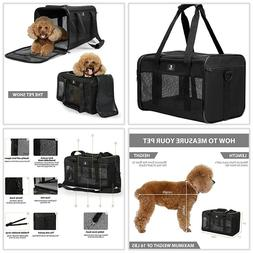 Portable Pet Travel Carrier X-ZONE Airline Approved Dogs Med