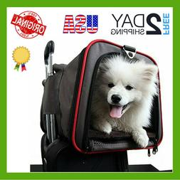 Premium Airline Approved Expandable Pet Carrier With Wheels