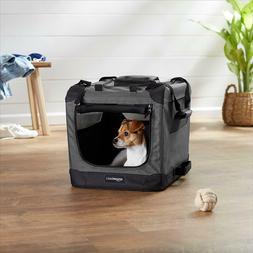 "Premium Folding Portable Pet Carrier Kennel 21"" Gray"