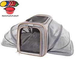 Premium Luxury Tote Airline Approved Expandable Pet Carrier