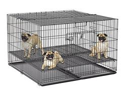 """MidWest Puppy Playpen with 1 Inch Mesh Floor Grid, 48""""L"""