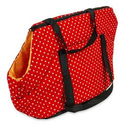 Red Polka Dot Pet Carrier Tote Purse Handbag for Dogs Cats 2