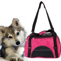 Rose Red Pet Dog Nylon Handbag Carrier Travel Carry Bags For