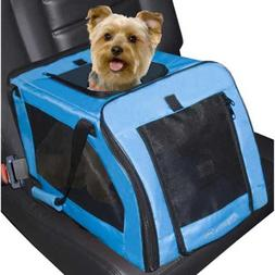 "Signature Pet Car Seat Carrier Aqua 4 pack 20"" x 13"" x 12"""