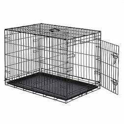 AmazonBasics Single Door & Double Folding Metal Dog Crate