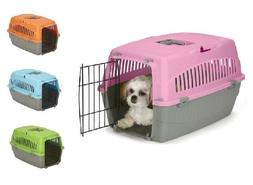 Small Dog Cat Pet Travel Crate Lightweight Pet Carrier Plast
