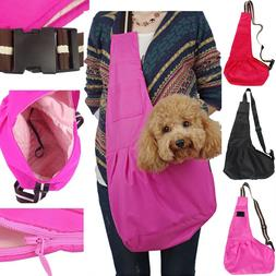 Small Pet Dog Cat Carrier Shoulder Sling Bag Tote Outside Tr