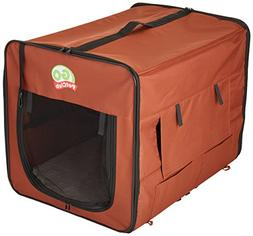 Go Pet Club AB32 Soft Dog Crate, Brown - 32 inches L x 22.2