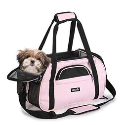 "Jespet Soft Sided Pet Carrier Comfort 17"" for Airline Trav"