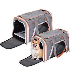 soft sided dog crate pet carrier foldable