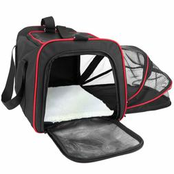 NEW Frontpet Soft Sided Expandable Pet Carrier Padded Fleece