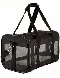 AmazonBasics Soft-Sided Mesh Pet Travel Carrier Kennel, Medi