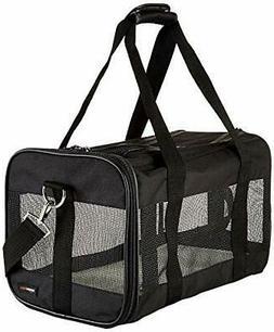 AmazonBasics Soft-Sided Mesh Pet Travel Carrier, Medium , B