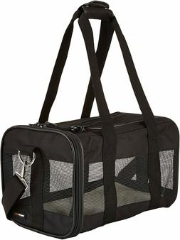 AmazonBasics Soft-Sided Mesh Pet Travel Carrier Small