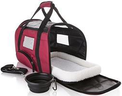 Soft Sided Travel Pet Carrier - Onboard Airline Approved Und