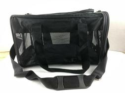 AmazonBasics Soft-Sided Pet Travel Carrier Medium Black