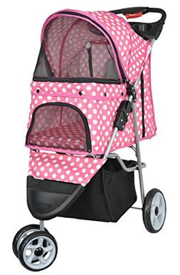 VIVO Three Wheel Pet Stroller / Cat & Dog Foldable Cart in W