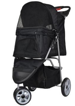 VIVO Three Wheel Pet Stroller, for Cat, Dog and More, Foldab