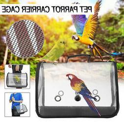 Transparent Handbag Travel Backpack Bird Carrier Cage Nest P